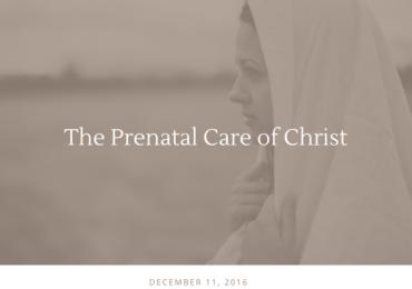 The Prenatal Care of Christ