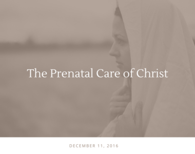 The Prenatal Care of Christ